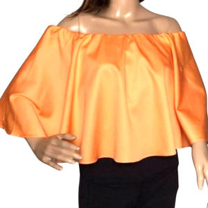 Do+Be Flounce Crop Top Tangerine NWT - M